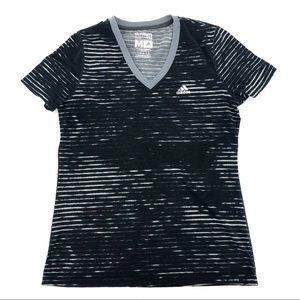 Adidas Ultimate Tee Shirt Top Space Dye Print Med